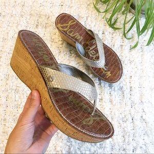 Sam Edelman Romy Cork Wedge Thong Sandal Size 10?